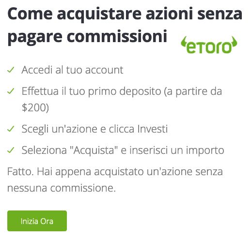 eToro commissioni