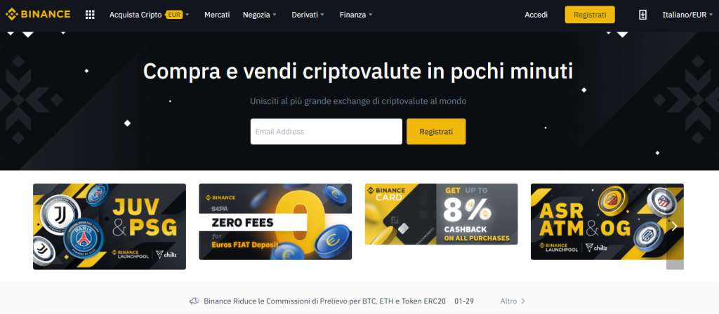 registrazione online su btc